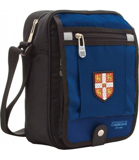 """Сумка для підлітків YES  CA006 """"Cambridge"""", 18.5*9*25.5см, синя"""