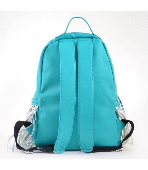 Сумка-рюкзак  YES, м'ятний з бахромою, 36*26*11