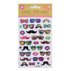 """Набір декоративних стікерів з тисненням """"Glasses"""""""
