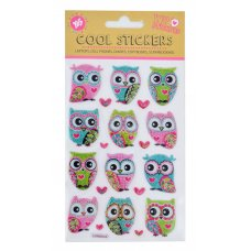 """Set of decorative stickers with glitter, """"Owls"""", 100*150mm"""