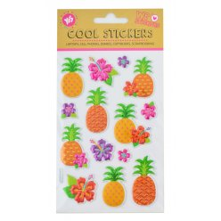 """Набір декоративних стікерів з тисненням фольгою """"Pineapple"""""""