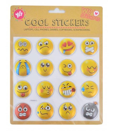 """Набір декоративних стікерів з тисненням фольгою """"Smile"""" - фото 1 з 1"""