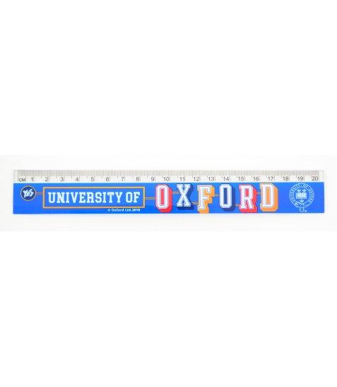 """Лінійка 20 см """"Oxford""""(blue)"""