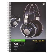 Зошит А5/80 од.спіраль Headphones YES