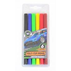 "Felt pens 6 colours ""Street racing"""