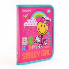 """Folder with zipper for the copybooks B5 """"Smiley World"""" (pink)"""