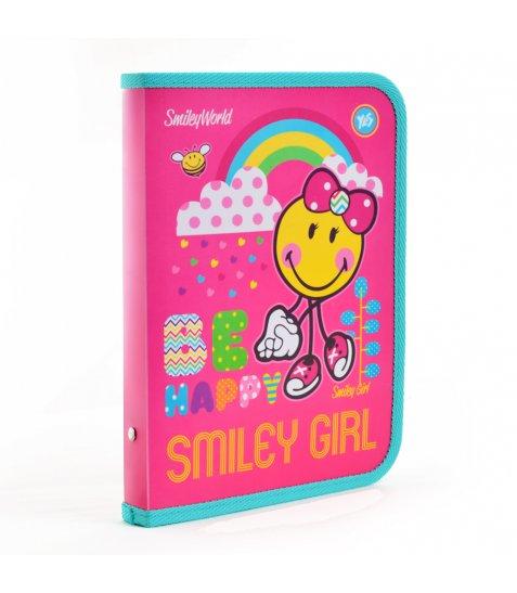 """Папка для зошитів пласт. на блискавці B5 """"Smiley World""""(pink) 491363"""