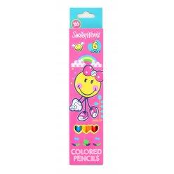 "Карандаши 6 цв. ""Smiley World""(pink)"