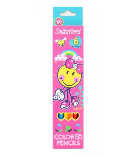 "Олівці 6 кол. ""Smiley World""(pink)"
