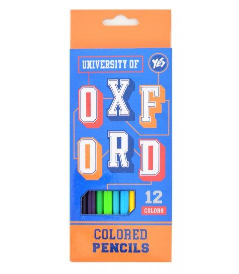 """Олівці 12 кол. """"Oxford""""(blue)"""