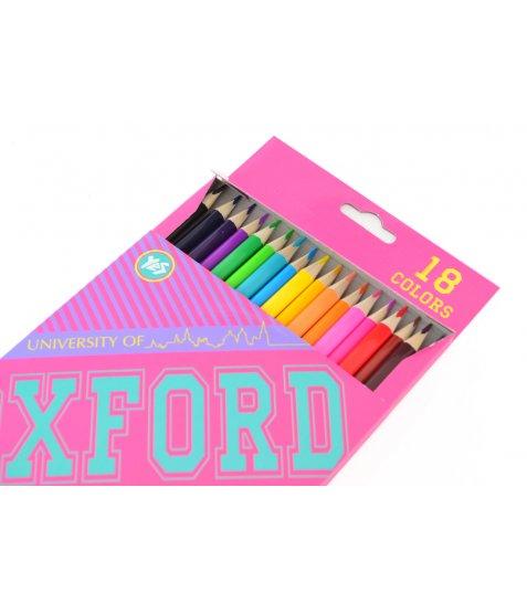 "Олівці 18 кол. ""Oxford""(pink)"