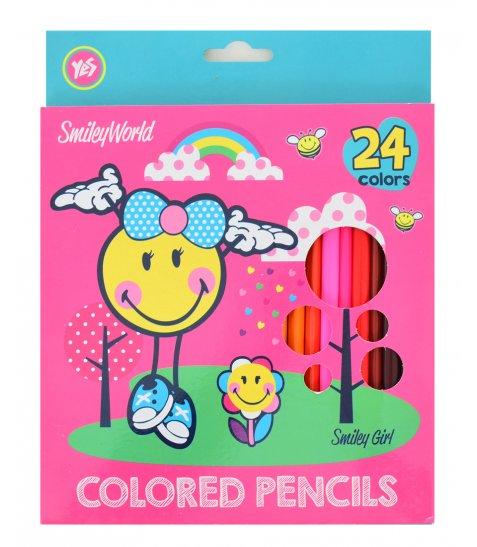 "Олівці 24 кол. ""Smiley World""(pink)"