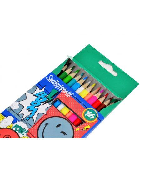 """Олівці 12/24 кол. """"Smiley World"""" (blue)"""