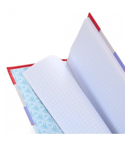 """Блокнот 100 * 200/64 7БЦ, фольга срібло, УФ вибірка, мат.ламінація """"Stripes"""" YES"""