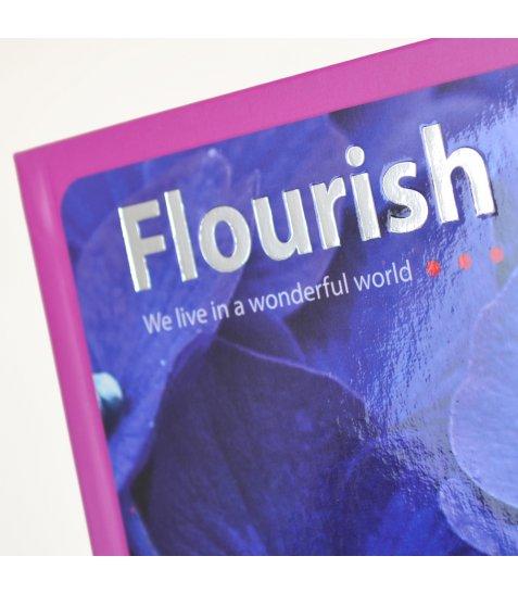 "Блокнот 150 * 150/64 інтег., УФ вибірка, фольга срібло, мат.ламінація ""Flourish"" YES"