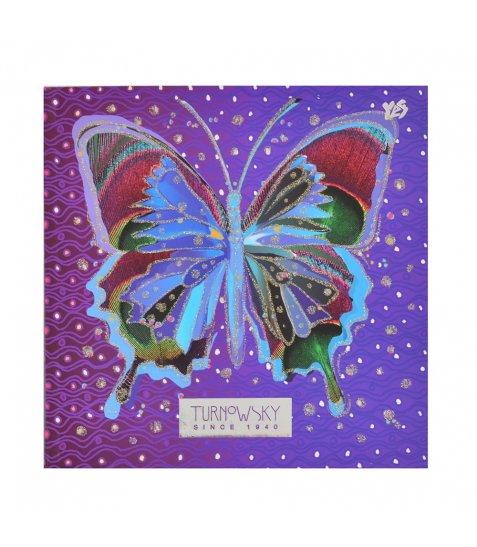 """Блокнот 150 * 150/64 інтег., Фольга срібло, гліттер, мат.ламінація """"Butterfly"""" YES"""
