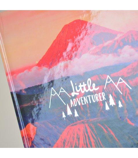 """Блокнот А5 / 64 7БЦ, фольга срібло, глянцева ламінація """"Mountain view"""" YES"""