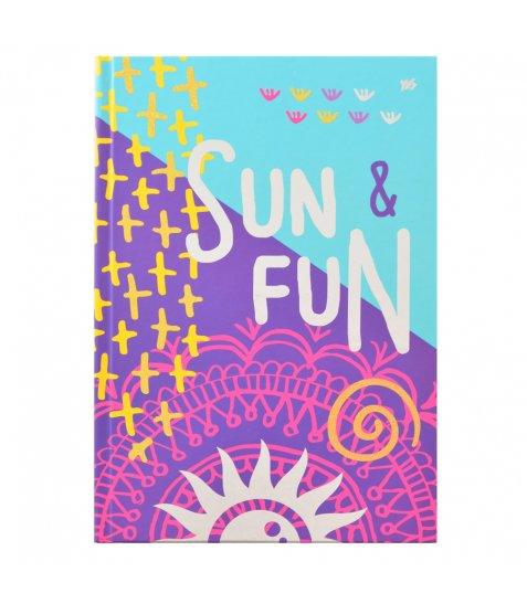 """Блокнот А4 / 160 7БЦ, фольга срібло, гліттер, мат.ламінація """"Summer party"""" YES"""