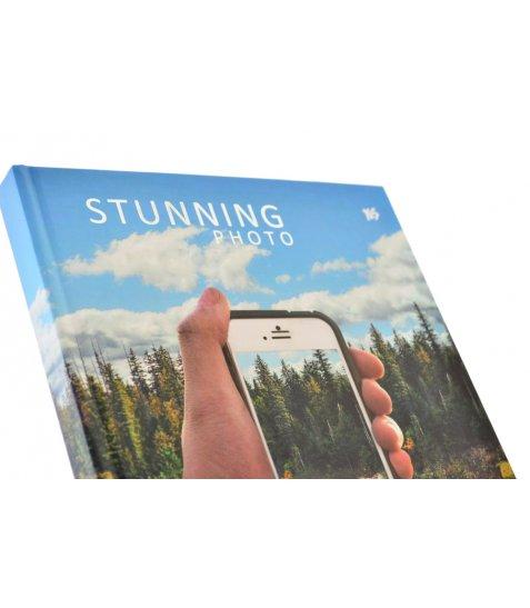 "Блокнот А4 / 160 7БЦ, фольга срібло, УФ вибірка, мат.ламінація ""Stunning photo"" YES"