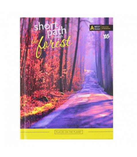 """Блокнот А5 / 64 7БЦ, фольга срібло, глянцева ламінація """"Forest path"""" YES"""