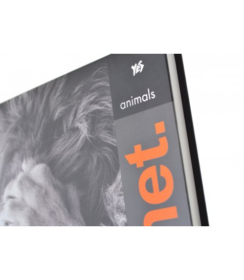 "Блокнот А4 / 160 7БЦ, фольга сер, УФ виб., Пантон оранж, мат.ламінаці ""Animals Planet"" YES"