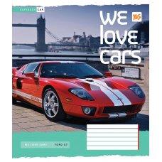 А5/12 лін. YES We love cars, зошит учнів.