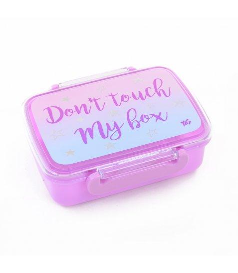 """Контейнер для їжі """"Don't touch"""", 420 мл, з роздільником"""