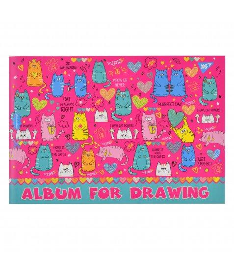 Альбом для малювання А4 28л / 120 скоба, з перфорацією YES (д)