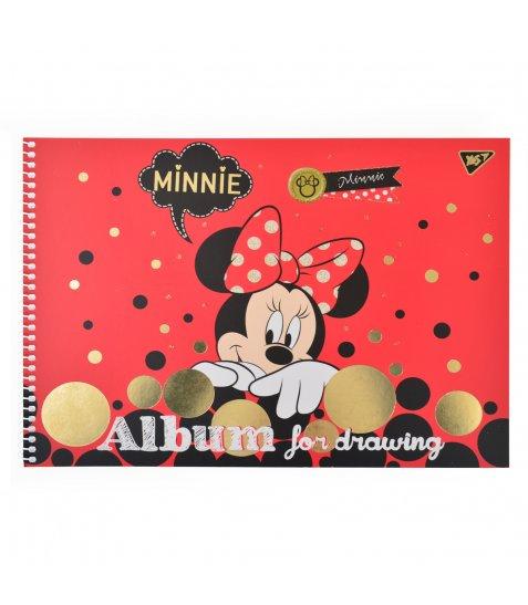 """Альбом для малювання А4 20л/100 """"Minnie Gold"""" на спіралі мат.лам+гліт+фольга золотYES"""