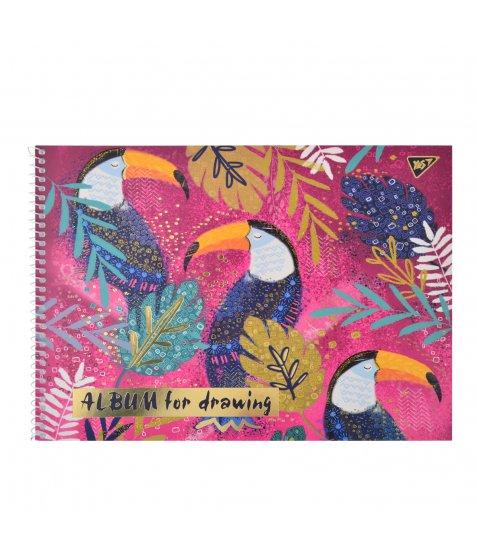 """Альбом для малювання А4 20л / 100 """"Opium"""" на спіралі мат.лам + гліт зол + фольга зол YES"""