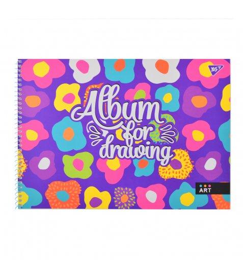 """Альбом для малювання А4 20л / 100 """"Аbstract Neon"""" на спіралі мат.лам + неон + софт-тач YES"""