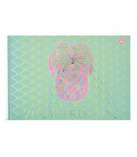 """Альбом для малювання А4 20л/100 """"Turnowsky art"""" на спіралі мат.лам+УФ-виб+фольга сер YES"""