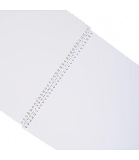 """Альбом для малювання А4 30л / 100 """"Paint brush"""" на спіралі мат.лам + неон + софт-тач YES"""