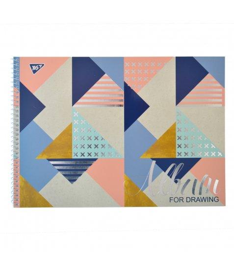 """Альбом для малювання А4 30л / 100 """"Abstract"""" на спіралі мат.лам + УФ-виб + фол сер YES"""
