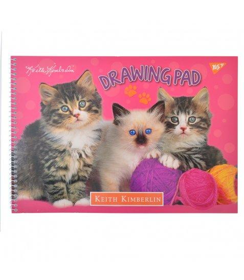 """Альбом для малювання А4 30л / 100 """"Fluffy pets"""" на спіралі мат.лам + УФ-виб YES"""