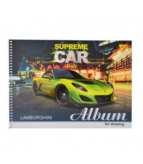 """Альбом для малювання А4 30л / 100 """"Supreme cars"""" на спіралі мат.лам + УФ-виб + фол сер YES"""