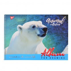 "Альбом для малювання А4 30л / 100 ""Wild force"" на спіралі мат.лам + УФ-виб + фол сер YES"