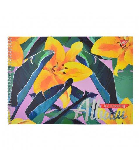 """Альбом для малювання А4 30л / 100 """"Canvas style"""" на спіралі мат.лам + ембоссінг YES"""