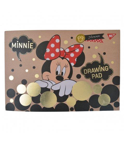 """Альбом для малювання А4 20л / 100 склейка білила + фол зол """"Minnie Gold"""" YES крафт"""