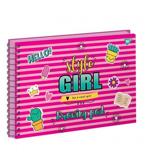 """Альбом для малювання А4 20л/100 """"STYLE GIRL"""" на спіралі неон+софт-тач YES"""