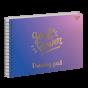 "Альбом для малювання А4 30л/100 ""GIRL POWER"" на спіралі софт-тач+фольга золото YES"