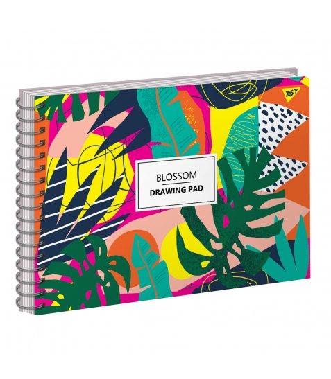 """Альбом для малювання А4 30л/100 """"BLOSSOM"""" на спіралі неон+софт-тач YES"""