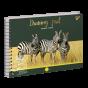 """Альбом для малювання А4 30л/100 """"WILD ANIMALS"""" на спіралі фольга золото+софт-тач+УФ-виб. Y"""