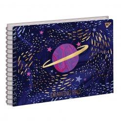 "Альбом для малювання А4 30л/100 ""ETTA VEE COSMOS"" на спіралі софт-тач+фольга золото YES"