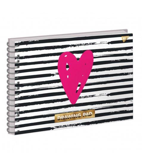 "Альбом для малювання А4 30л/100 ""ART WAVE"" на спіралі софт-тач+фольга золото YES"