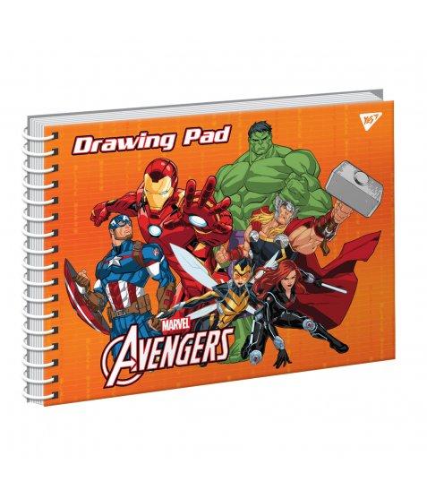 "Альбом для малювання А4 20арк./100 ""Marvel"" на спіралі виб.гібрід.лак YES"
