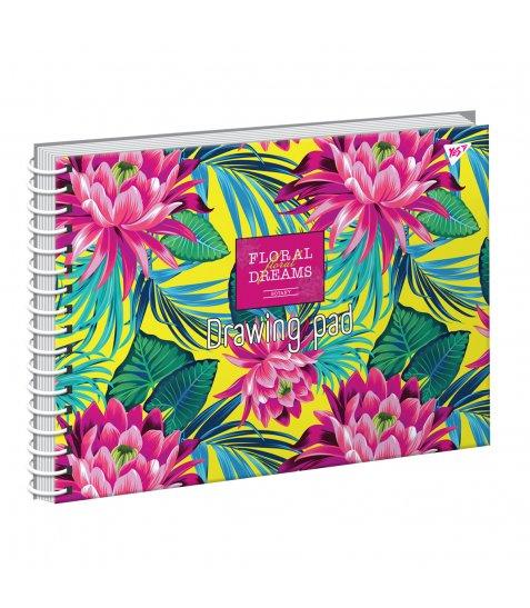 """Альбом для малювання А4 20арк./100 """"Tropical paradise"""" на спіралі неон+софт-тач YES"""