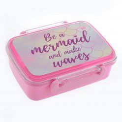 """Контейнер для їжі """"Mermaid"""", 420 мл, з роздільником"""
