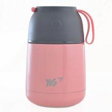 Термос для їжі, рожевий