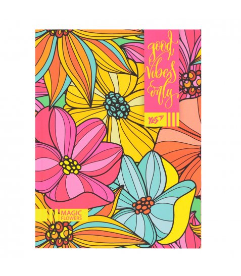 """Блокнот А5/64 ЛІН. інтег., неон+софт-тач лак. """"Floral vibes"""" YES"""
